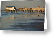 The Pier On Old Orchard Beach Greeting Card