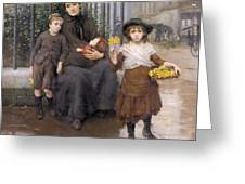 The Pinch Of Poverty Greeting Card