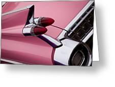 The Pink Cadillac Greeting Card