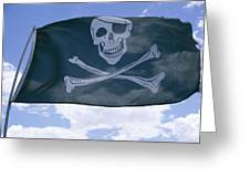 The Pirate Flag Known As The Jolly Greeting Card