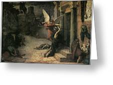 The Plague In Rome Greeting Card