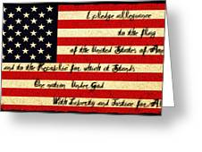 The Pledge Of Allegiance Greeting Card