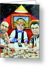 The Poker Game Greeting Card