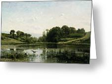 The Pond At Gylieu Greeting Card