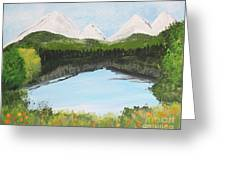 The Pond Greeting Card by Lorraine Louwerse