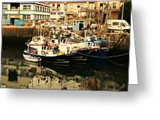 The Port Greeting Card by Jenny Senra Pampin