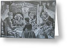 The Potato Eaters By Vincent Van Gogh Greeting Card
