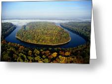 The Potomac River Makes A Hairpin Turn Greeting Card