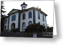The Potter School House . Bodega Bay . Town Of Bodega . California . 7d12477 Greeting Card by Wingsdomain Art and Photography