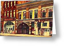 The Princess And Grand And Star Theatres On Amusement Row State Street In Erie Pa In 1910 Greeting Card