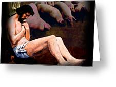 The Prodigal Son Comes To His Senses Greeting Card by Earl Jackson