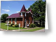 The Purple Church Greeting Card