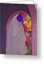 The Purple Lantern Greeting Card