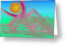 The Pyramids Greeting Card