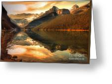 The Quiet Golden Glow Greeting Card