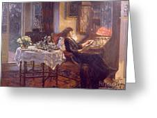 The Quiet Hour Greeting Card by Albert Chevallier Tayler