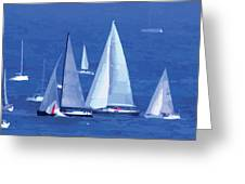 The Race. Greeting Card