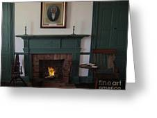 The Rankin Home Fireplace Greeting Card