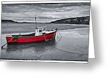The Red Boat Greeting Card