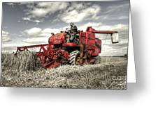 The Red Combine Greeting Card