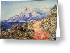 The Red Road Near Menton Greeting Card