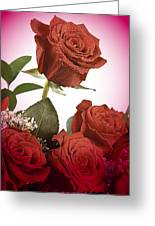 The Red Rose Center Of Love Greeting Card