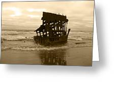 The Remains Of A Ship Greeting Card