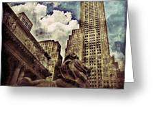 The Resting Lion - Nyc Greeting Card
