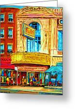 The Rialto Theatre Greeting Card