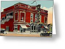 The Rialto Theatre In Brooklyn N Y In The 1920's Greeting Card