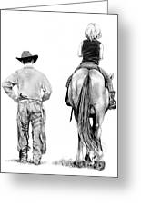 The Riding Lesson Greeting Card