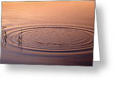 The Ripple Effect Greeting Card