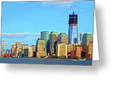 The Rising Freedom Tower Greeting Card