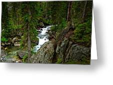 The River Below Hidden Falls Greeting Card