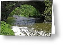 The River Dove Beneath Coldwall Bridge Greeting Card