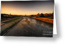 The River Exe At Tiverton Greeting Card