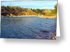 The River In Autumn Greeting Card