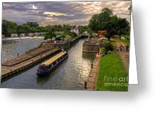The River Thames At Goring Greeting Card