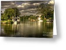 The River Thames At Streatley Greeting Card