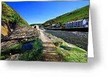 The River Valency At Boscastle Greeting Card