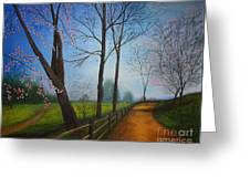 The Road Less Traveled Greeting Card by Terri Maddin-Miller
