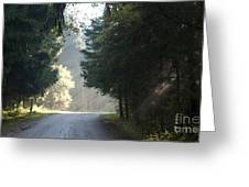 The Road Out Of The Conservation Area Greeting Card