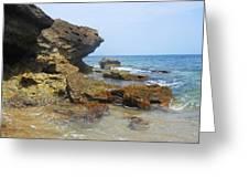The Rocks At Rincon Greeting Card