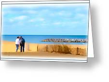 The Romantic Beach Greeting Card