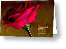 The Rose And Thorn Greeting Card