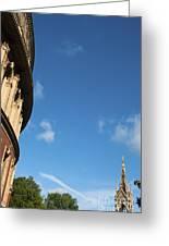 The Royal Albert Hall And Albert Memorial Greeting Card