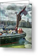 The Sailing Barge Lady Daphne Greeting Card