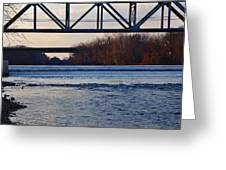 The Schuylkill River At Bridgeport Greeting Card