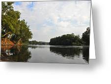 The Schuylkill River At West Conshohocken Greeting Card