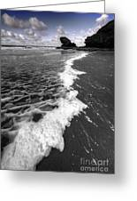 The Sea And The Foam Greeting Card